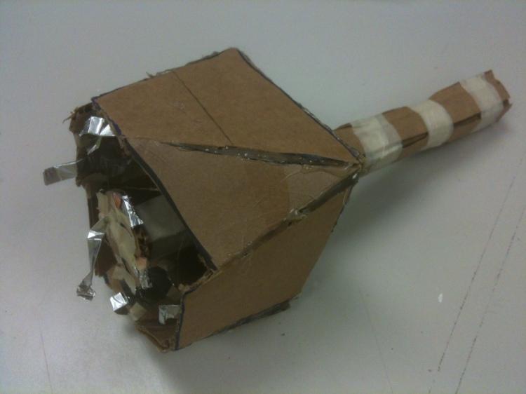 Cardboard joystick prototype